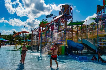 Orlando, Florida. April 26, 2019. Parents and childs having fun Katas Kookaburra Cove at Aquatica in International Drive area