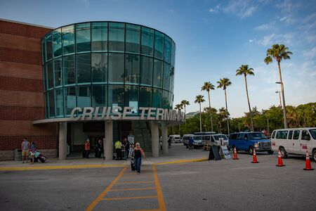 Tampa Bay, Florida. April 28, 2019. Cruise Terminal 3 at Port Tampa Bay (1)
