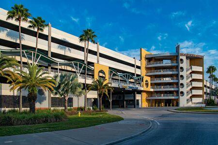 Tampa Bay, Florida. April 28, 2019. Port Tampa Bay Car park in Channelside street (2)