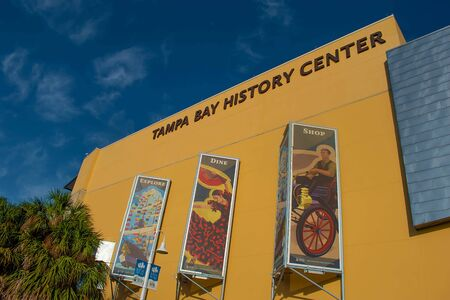 Tampa Bay, Florida. April 28, 2019. Tampa Bay History Center in downtown area (1) Editorial