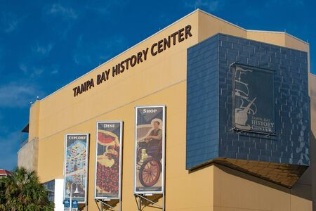Tampa Bay, Florida. April 28, 2019. Tampa Bay History Center in downtown area (2)