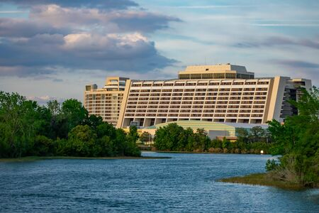 Orlando, Florida. June 03. 2019. Panoramic view of Contemporary Resort in Walt Disney World area 4 Editöryel