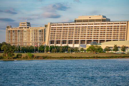 Orlando, Florida. June 03. 2019. Panoramic view of Contemporary Resort in Walt Disney World area 5