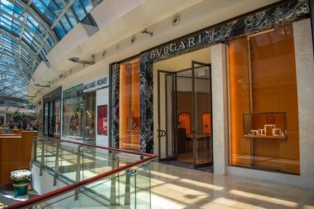 Orlando, Florida. June 6, 2019. Michael Kors and Bvlgari stores. in The Mall at Millenia 1