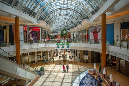 Orlando, Florida. June 6, 2019. Panoramic view of first and second floor in The Mall at Millenia 1