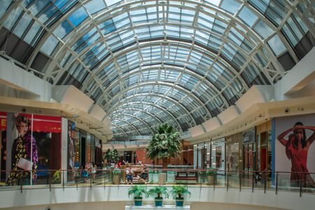 Orlando, Florida. June 6, 2019. Panoramic view of second floor in The Mall at Millenia 1 Редакционное
