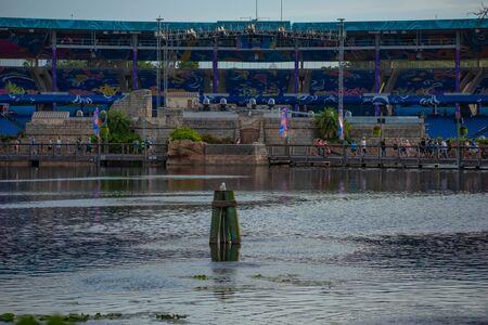 Orlando, Florida. June 23 2019. Beautiful view of Bayside Stadium at Seaworld 1