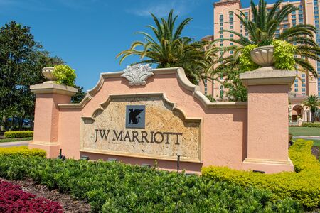 Orlando, Florida. July 16, 2019. Partial view of JW Marriott at John Yaung Parkway area 1