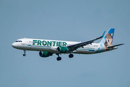 Florida July 09, 2019. Frontier Airlines departing from Orlando International Airport 2