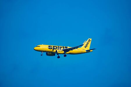Orlando, Florida. July 09, 2019 .Spirit Airlines departing from Orlando International Airport