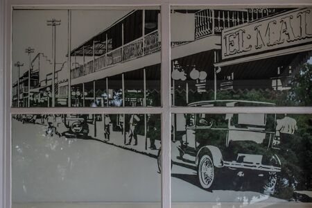 Tampa Bay, Florida. July 12, 2019. City old pictures in Ybor City State Museum 3