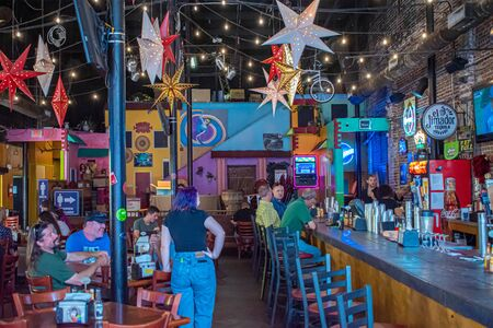 Tampa Bay, Florida. July 12, 2019 Inside of The Rooster Bar at Tequila in Ybor City 1 Editorial