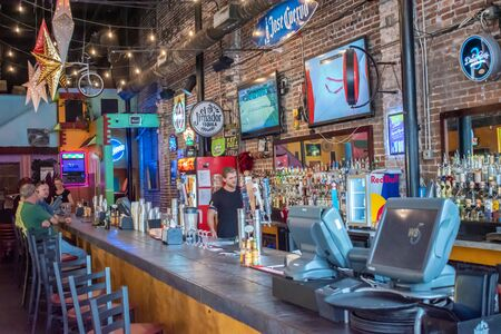 Tampa Bay, Florida. July 12, 2019 Inside of The Rooster Bar at Tequila in Ybor City 2 Editorial