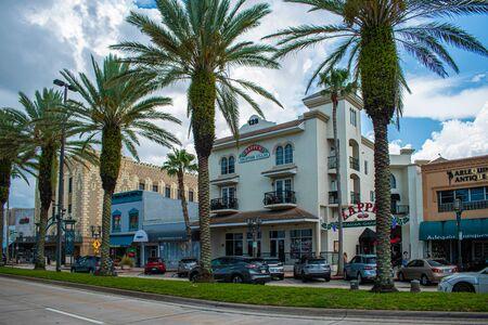 Daytona Beach Florida. July 07, 2019 The Riverfront Shops in the historic Beach Street area.