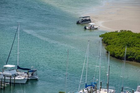 Ponce de Leon Inlet, Florida. July 19, 2019 Partial view of marina from lighthouse 1
