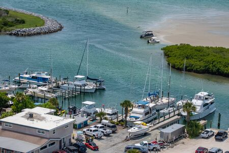 Ponce de Leon Inlet, Florida. July 19, 2019 Partial view of marina from lighthouse 3