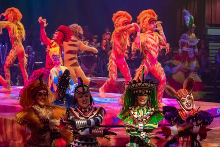 Orlando, Florida. August 14, 2019. Festival of the Lion King at Animal Kingdom (18) Editorial