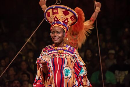 Orlando, Florida. August 14, 2019. Festival of the Lion King at Animal Kingdom (28) Editorial