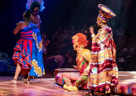 Orlando, Florida. August 14, 2019. Festival of the Lion King at Animal Kingdom (35)