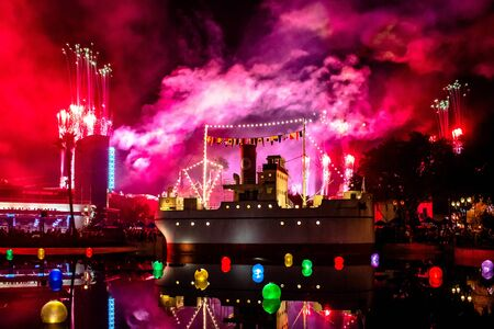 Orlando, Florida. November 27. 2019 Jingle Bell, Jingle BAM spectacular fireworks at Hollywood Studios (63)