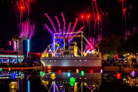 Orlando, Florida. November 27. 2019 Jingle Bell, Jingle BAM spectacular fireworks at Hollywood Studios (29)