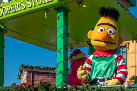 Orlando, Florida. December 07, 2019. Bert in Sesame Street Christmas Parade at Seaworld 2