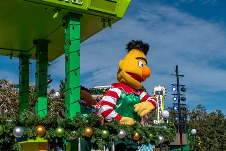 Orlando, Florida. December 07, 2019. Bert in Sesame Street Christmas Parade at Seaworld 5