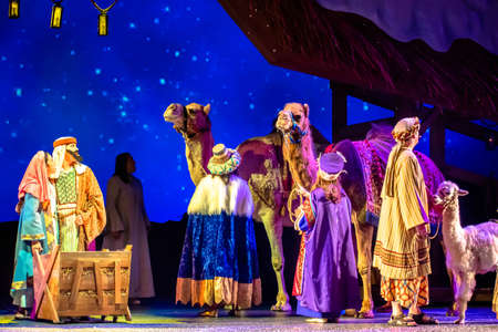 Orlando, Florida. December 30, 2019. O Wondrous Night Show is a greatest story with carols, puppets and live animals.at Seaworld (107)