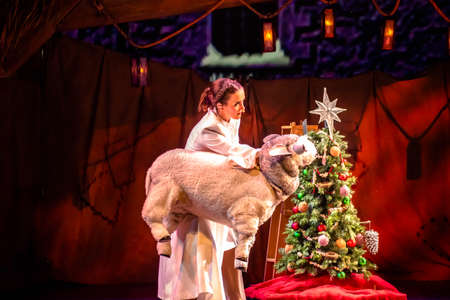 Orlando, Florida. December 30, 2019. O Wondrous Night Show is a greatest story with carols, puppets and live animals.at Seaworld (164)