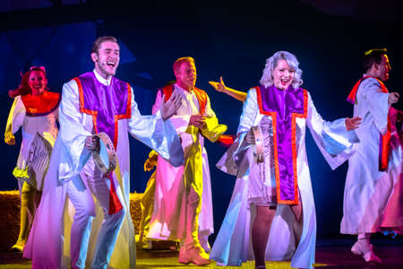 Orlando, Florida. December 30, 2019. O Wondrous Night Show is a greatest story with carols, puppets and live animals.at Seaworld (174)