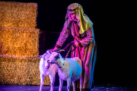 Orlando, Florida. December 30, 2019. O Wondrous Night Show is a greatest story with carols, puppets and live animals.at Seaworld (211)