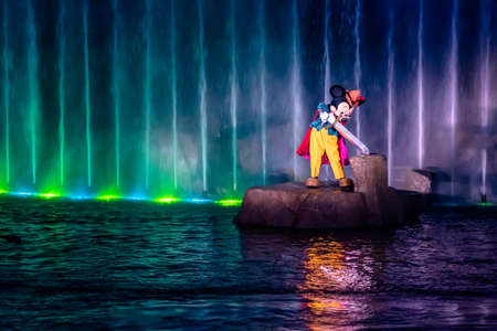Orlando, Florida. January 03, 2020, Mickey Mouse in Fantasmic Show at Hollywood Studios (153)