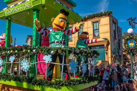 Orlando, Florida. December 07, 2019. Bert in Sesame Street Christmas Parade at Seaworld 7