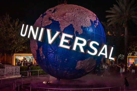 Orlando, Florida. February 12, 2020. World sphere at Universals Citywalk 2