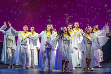 Orlando, Florida. December 30, 2019. O Wondrous Night Show is a greatest story with carols, puppets and live animals.at Seaworld (113)
