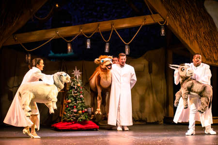 Orlando, Florida. December 30, 2019. O Wondrous Night Show is a greatest story with carols, puppets and live animals.at Seaworld (198)