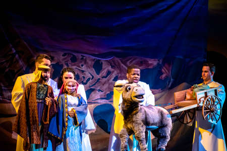 Orlando, Florida. December 30, 2019. O Wondrous Night Show is a greatest story with carols, puppets and live animals.at Seaworld (122)