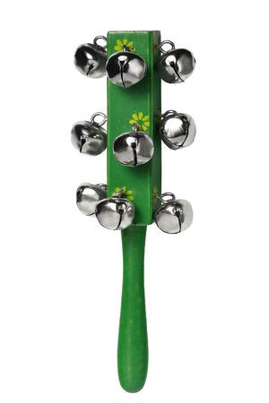 sonaja: instrumenl musical de madera verde, traqueteo