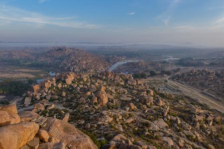 Morning view from the top of Hampi, Karnataka, India
