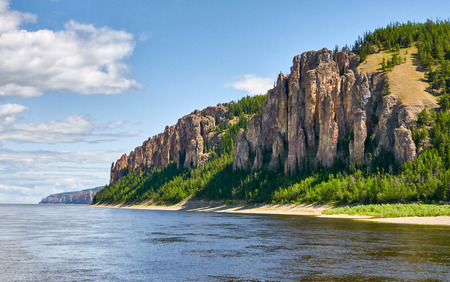 National heritage of Russia placed in republic Sakha, Siberia. Banque d'images