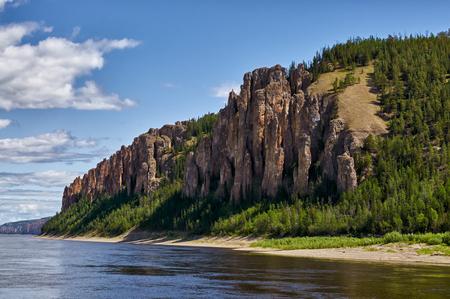 Lena Pillars, bank of Lena river, Yakutia