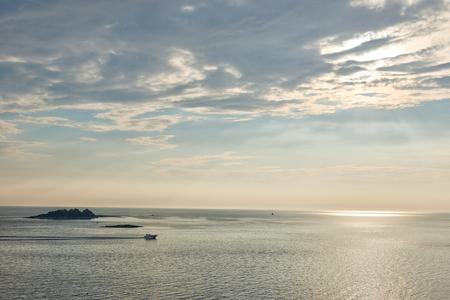 Blue Adriatic sea sea at evening, Croatia