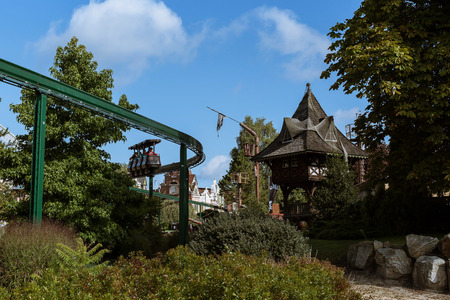 excursions: park of entertainments in Europe,railway at height for excursions in the Park