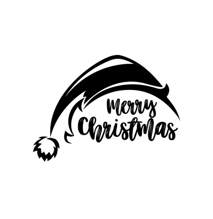Merry Christmas element and typography design. Ilustracja