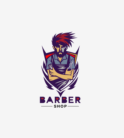 An Illustration of Barber. Useful for logo or posters! Illusztráció