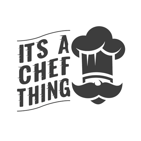 벡터 활판 인쇄와 요리사 모자입니다. 고품질 디자인.