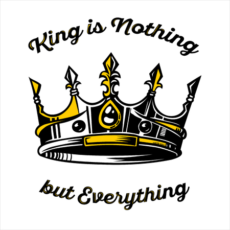 vector crown illustration  for multi usage with High and Sober typography. Modern and High-quality design