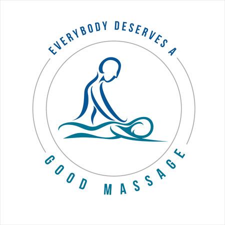 Vector Massage Illustration for multi usage like logo, t-shirt, advertisement or other