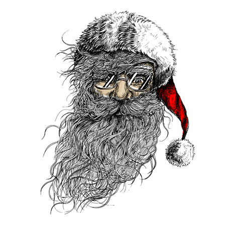 Vector Santa Claus illustration.Minimal and High quality design. Archivio Fotografico