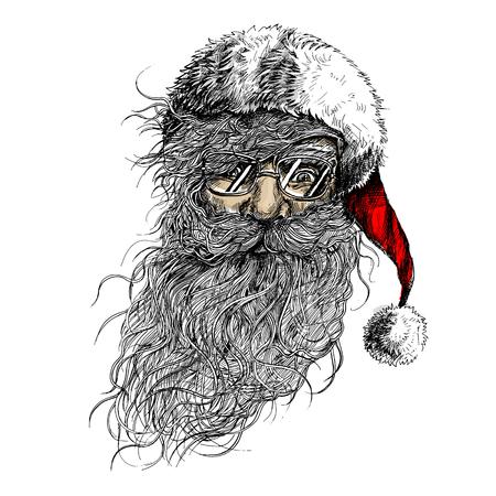 Vector Santa Claus illustration.Minimal and High quality design. Stock Photo